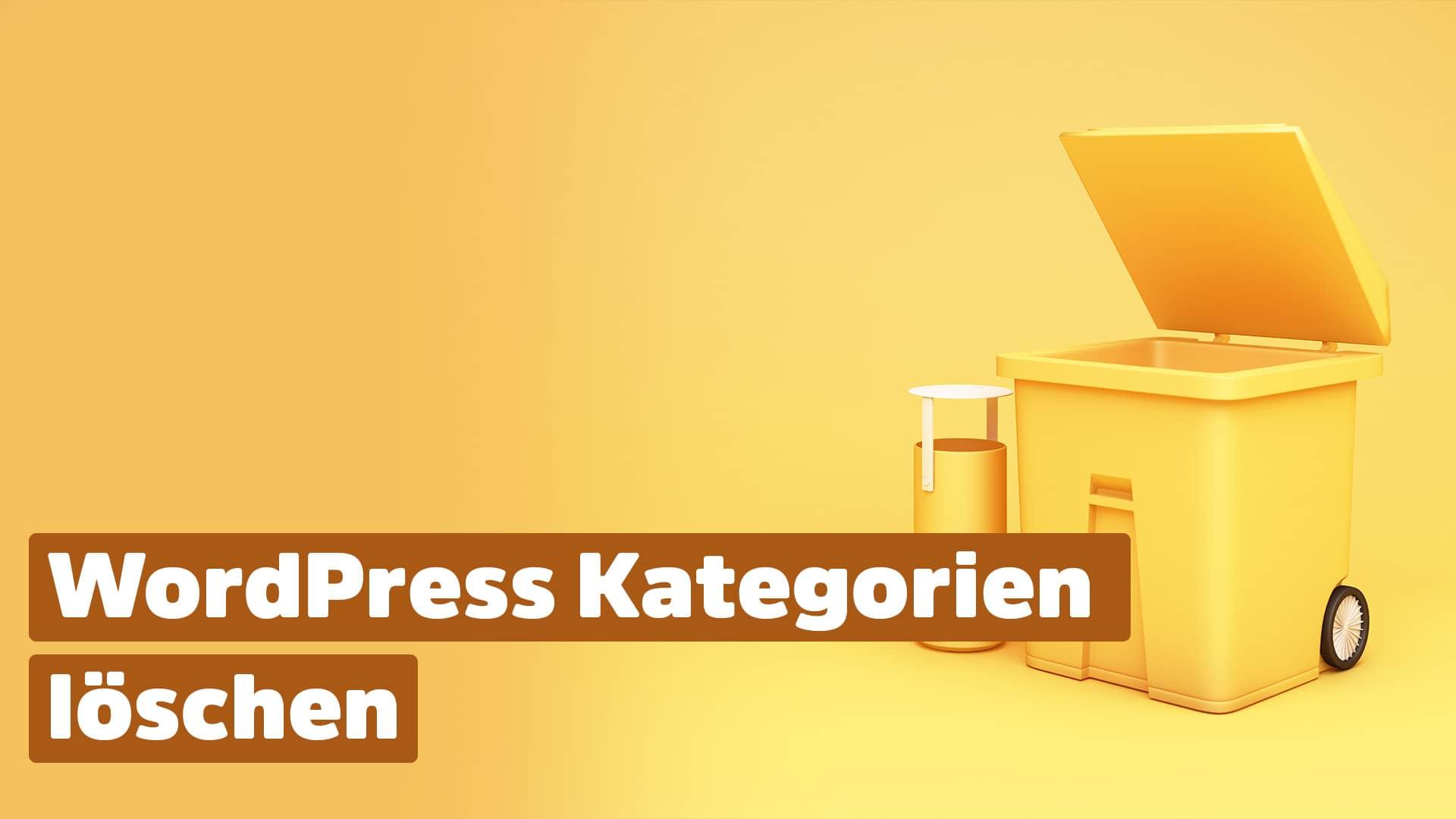 WordPress Kategorien löschen