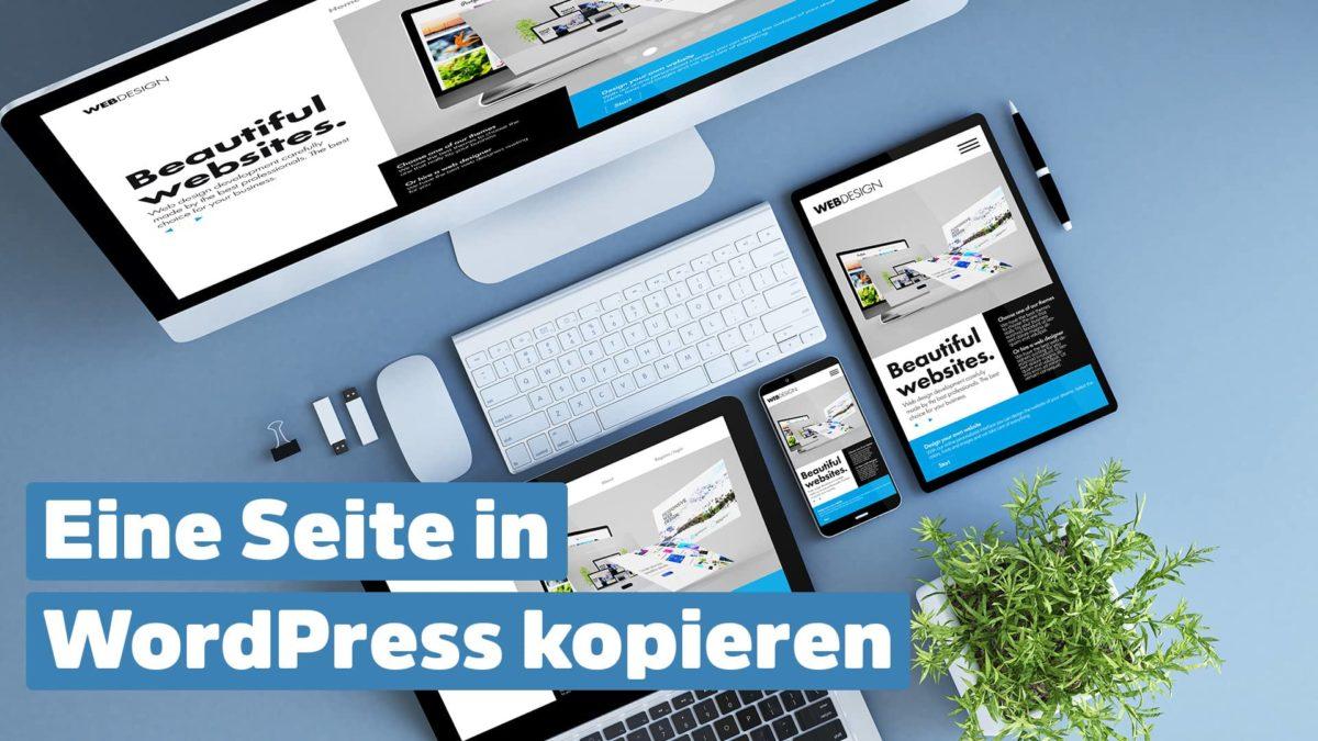 Wie Seite in WordPress kopieren