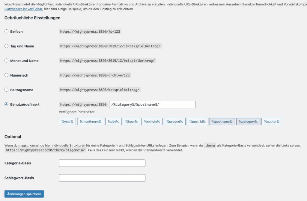 Alle Permalinks in WordPress wechseln
