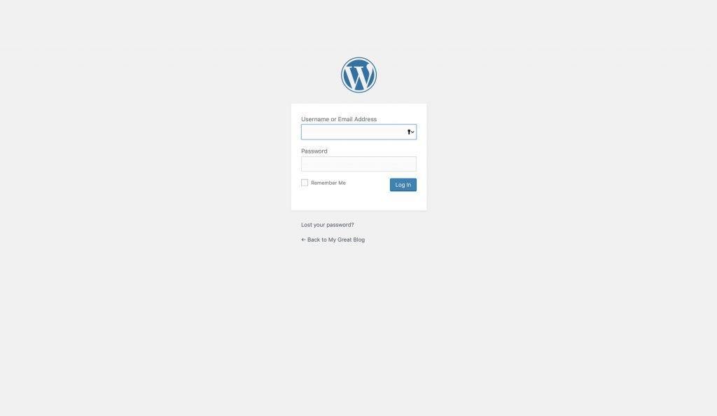 In das WordPress Backend einloggen