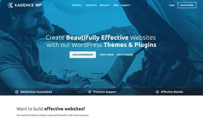 Kadence gehört zu den besten WordPress Vorlagen auf dem Markt