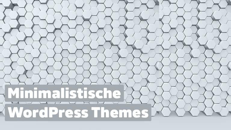 Minimalistische WordPress Templates