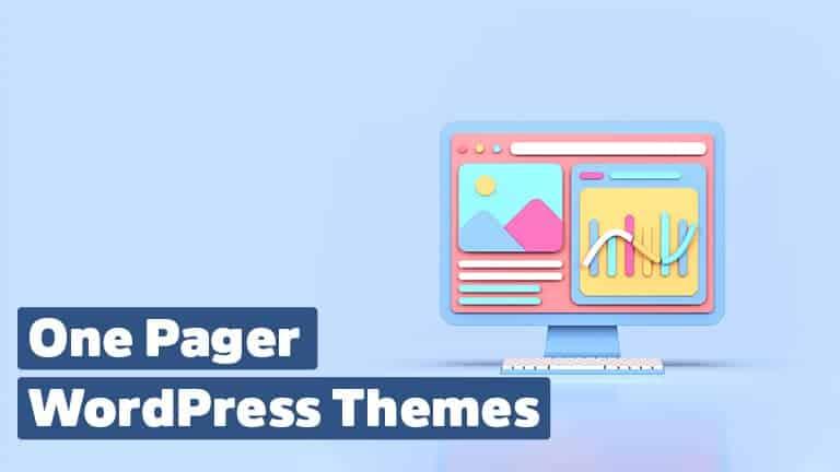 One Pager Themes für WordPress Websites