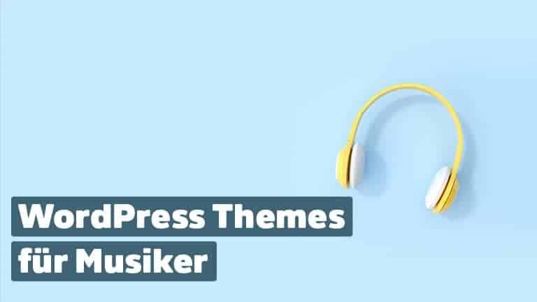 WordPress Themes für Musik und Musiker