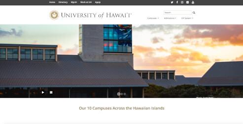 University of Hawaii Avada Theme