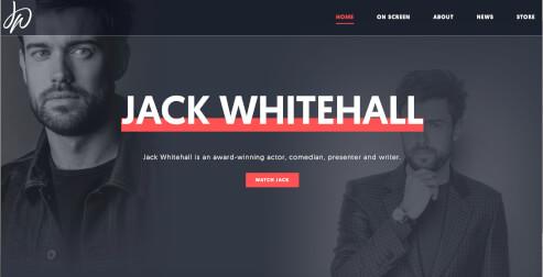 Beispiel Website von Jack Whitehall