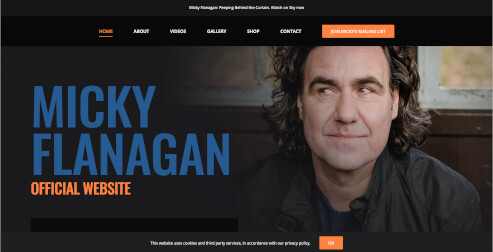 Avada Beispiel Micky Flanagan