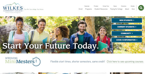Wilkes Community College Website
